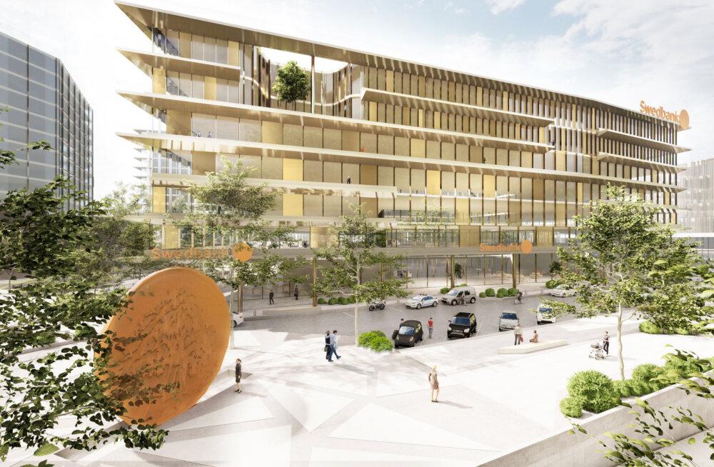 PILDID | Swedbank kolib Eesti peakontori Liivalaia tänavalt ära