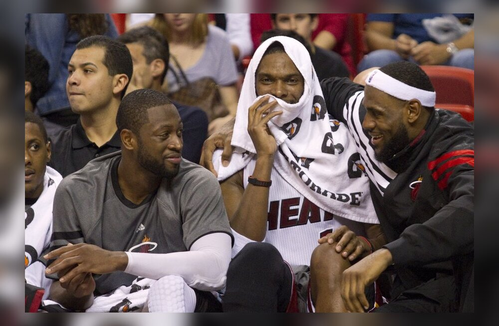 Dwayne Wade, Chris Bosh ja LeBron James, NBA, Miami Heat