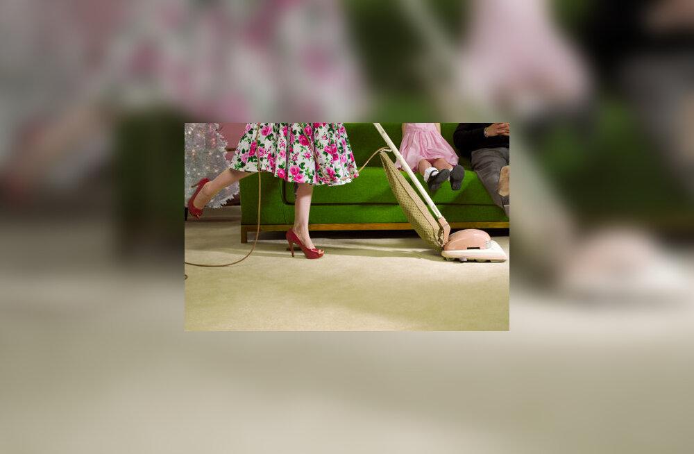 Aastal 1965 kulutas keskmine ameerika naisterahvas kodustele toimetustele 25.7 tundi nädalas.