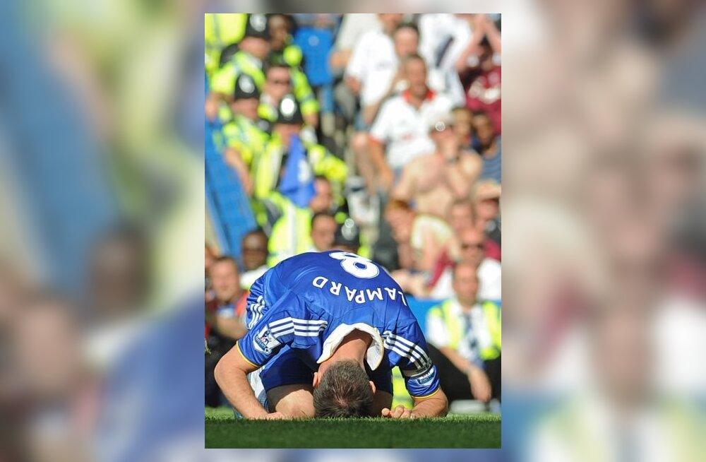 Pettunud Chelsea mängija Frank Lampard
