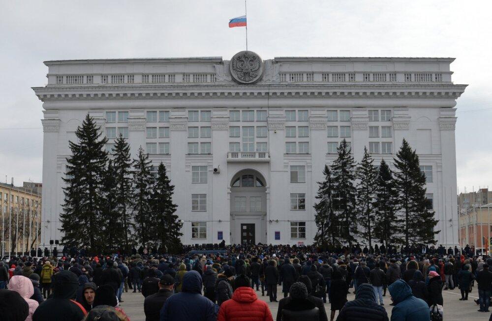 Вице-губернатор Чернов заявил, что митинг в Кемерово был попыткой дискредитировать власть, позже был снят с должности