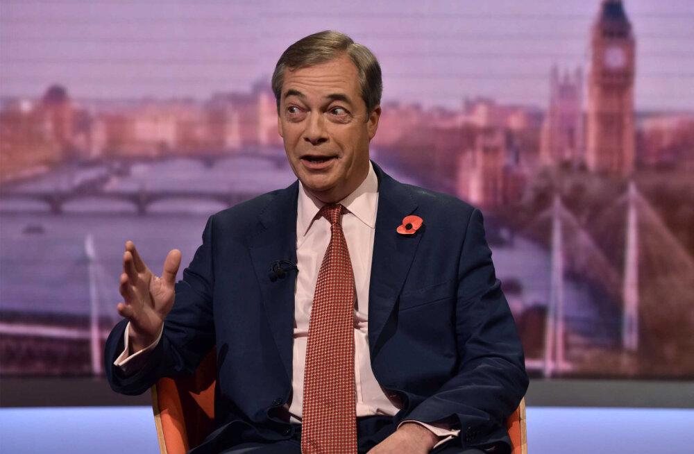 Farage alustab sõda Brexiti-leppe vastu, loobudes valimistel osalemast