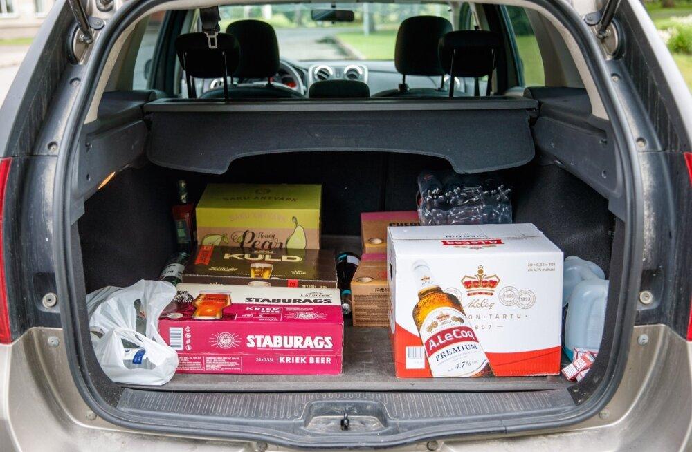 Alkoholi ostmine Lätist