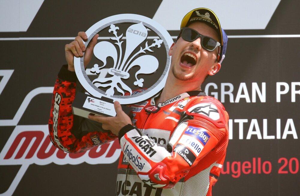 Jorge Lorenzo esimene võit Ducatiga