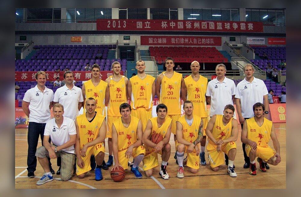 TÜ/Rocki korvpallimeeskond harjumatu väljanägemisega Hiina turneel