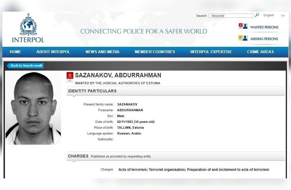 Интерпол объявил в розыск присоединившегося к сирийским исламистам Ивана Сазанакова из Эстонии