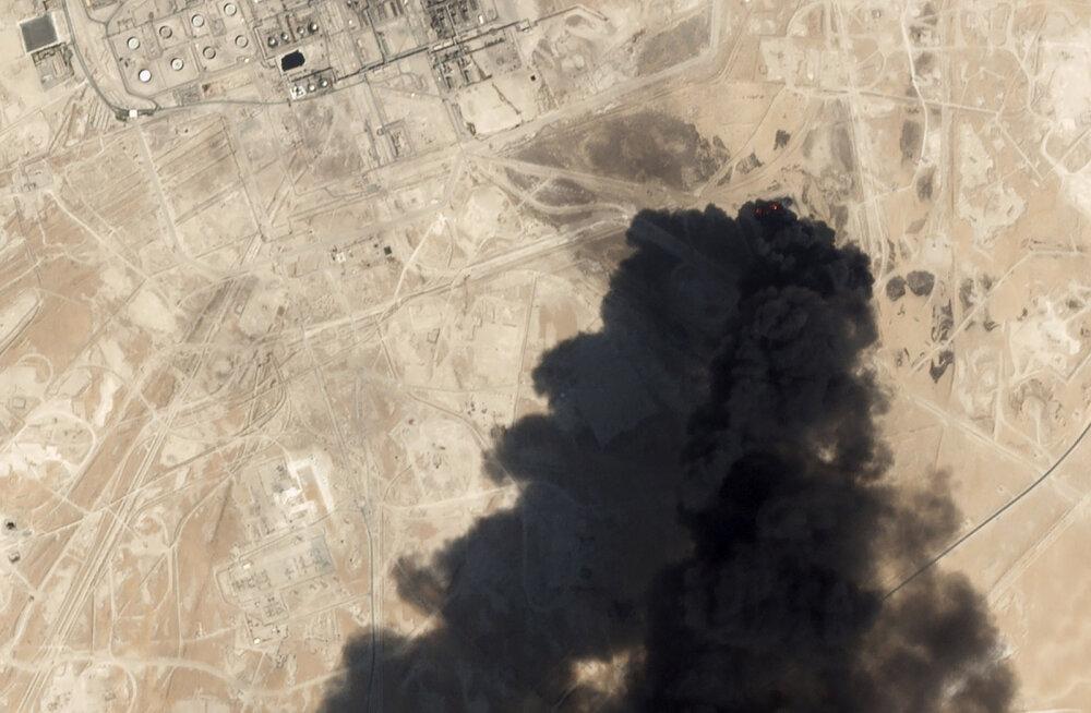 Saudi Araabia vähendas droonirünnakute tõttu nafta tootmist mitmete miljonite barrelite võrra