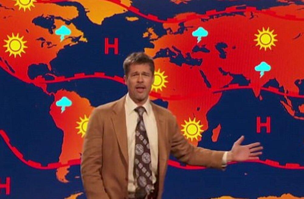 """VIDEO: Brad Pitt lajatas Austraalia televisioonis eriti sünge """"ilmateatega"""": tulevikku lihtsalt pole!"""