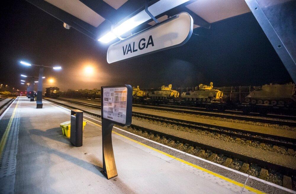 Valga raudteejaam.