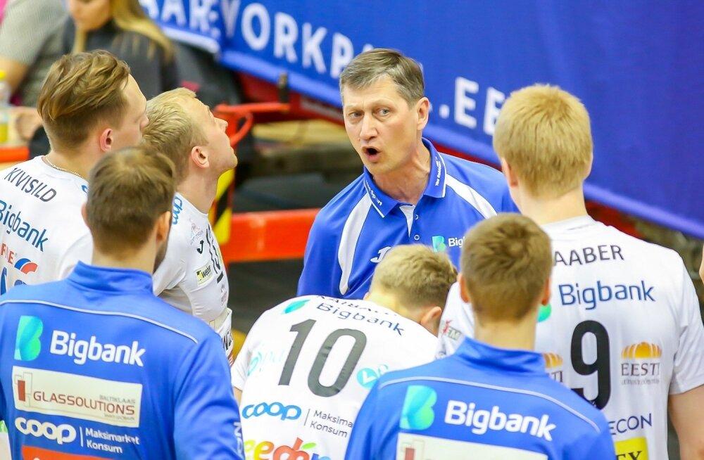 Andrei Ojamets (keskel) on suutnud Tartu Bigbanki mehed lühikese ajaga iseenda võimetesse uskuma panna.