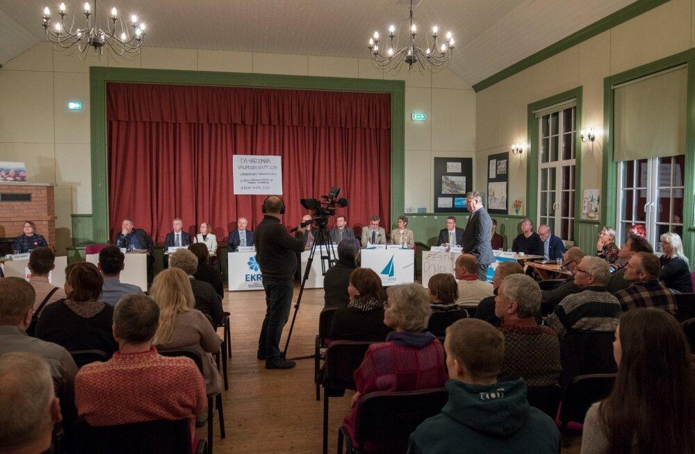 Valimisdebatt Kolgaküla rahvamajas