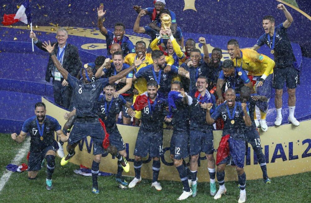 Prantsusmaa tõusis uueks FIFA edetabeli liidriks, Saksamaa langes esikümnest välja