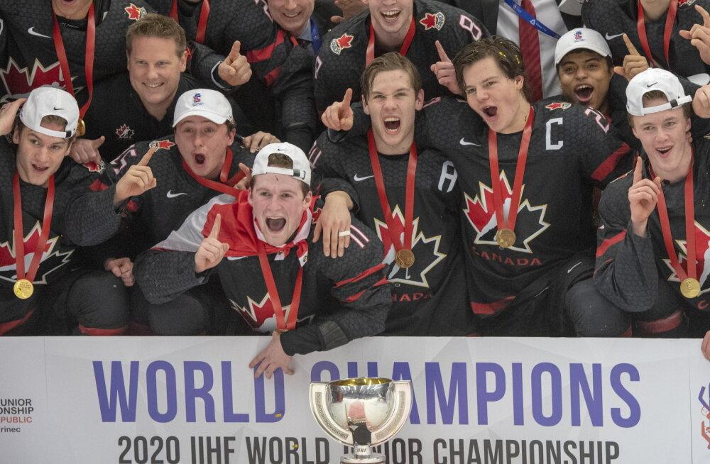 Venemaalt magusa revanši saanud Kanada hokimehed krooniti 18. korda juuniorie maailmameistriks