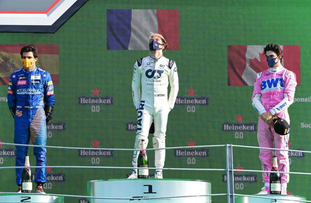BLOGI | Pöörane Itaalia GP: poodiumile mahtusid ainult üllatusmehed, Mercedes, Red Bull ja Ferrari põrusid totaalselt