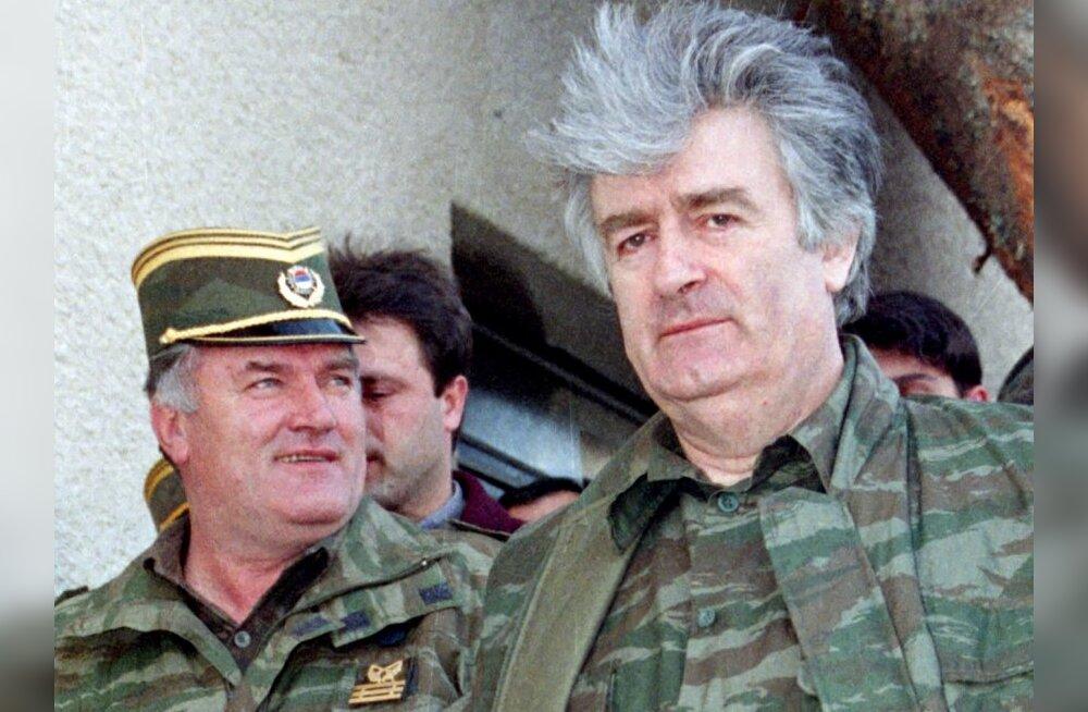 Bosnia sõjakuritegudes süüdistatavad kindralkolonel Ratko Mladić ja Radovan Karadžić