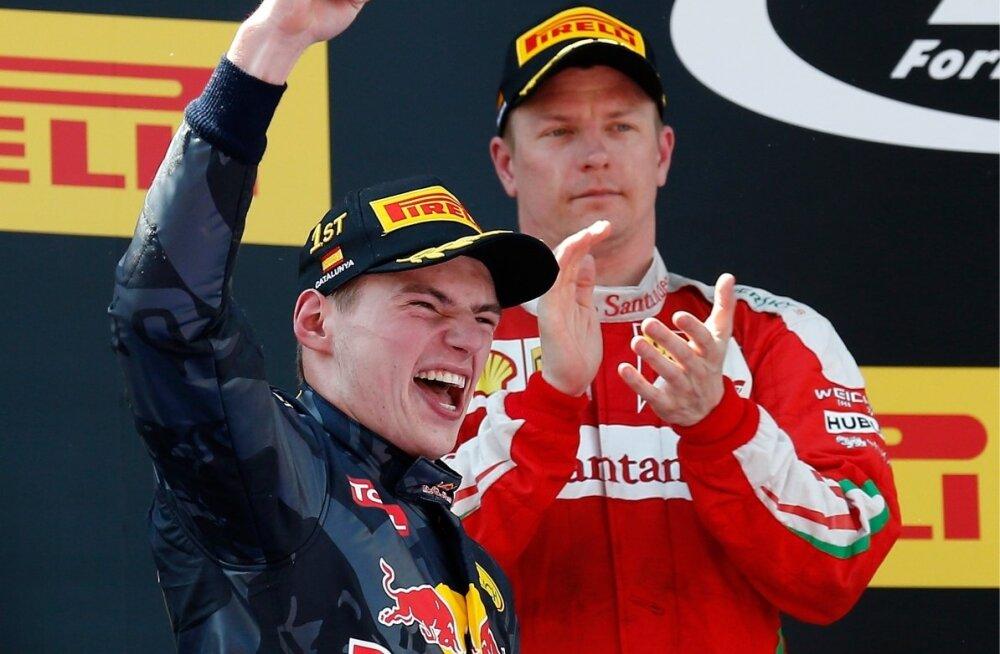 Verstappen ja Räikkönen poodiumil