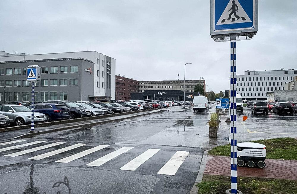 Eesti idufirma avas Tallinnas nutika ülekäiguraja, mis säästab elusid ja robotite aega