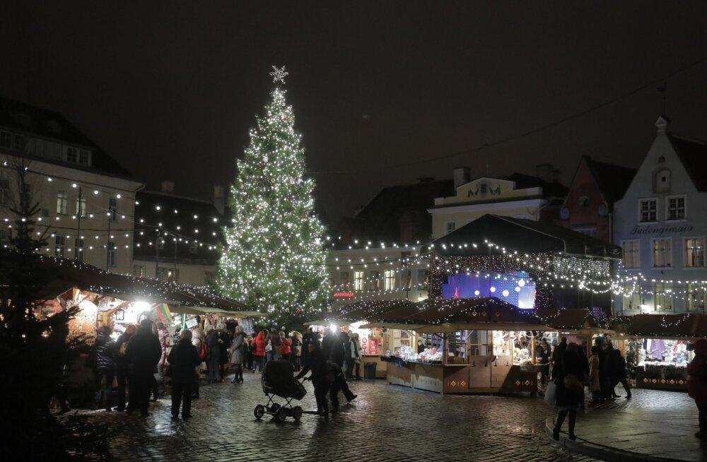 Tallinna jõuluturg.
