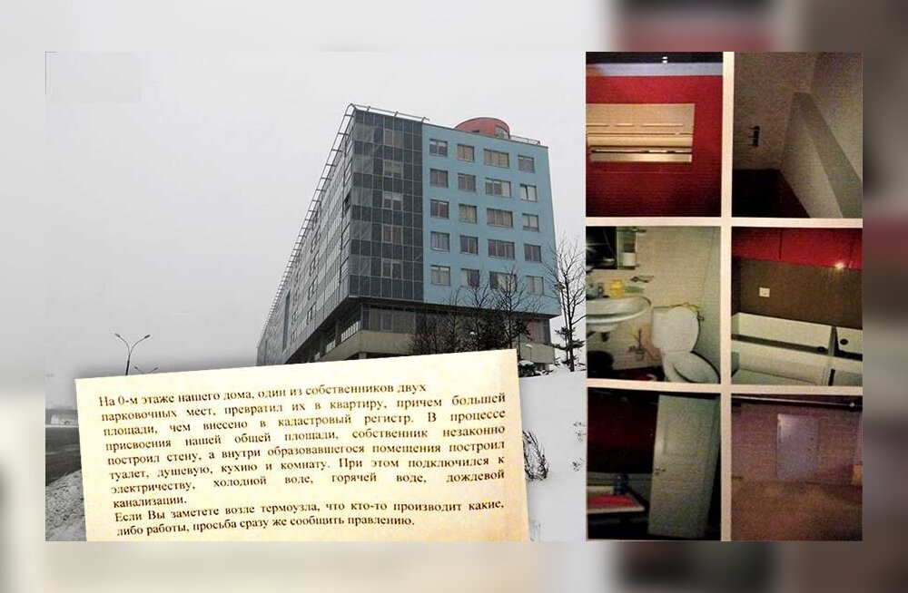 Небывалый случай: житель Ласнамяэ обустроил небольшую квартиру прямо на крытой парковке