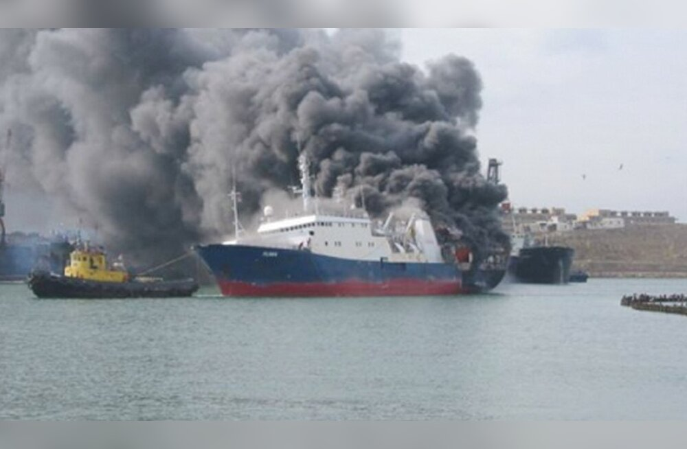 FOTO: Kaspia merel lahvatas põlema Vene tanker