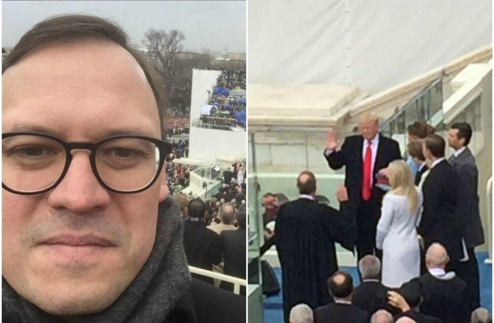 Eerik Marmei Trumpi ametisse kinnitamise tseremoonial