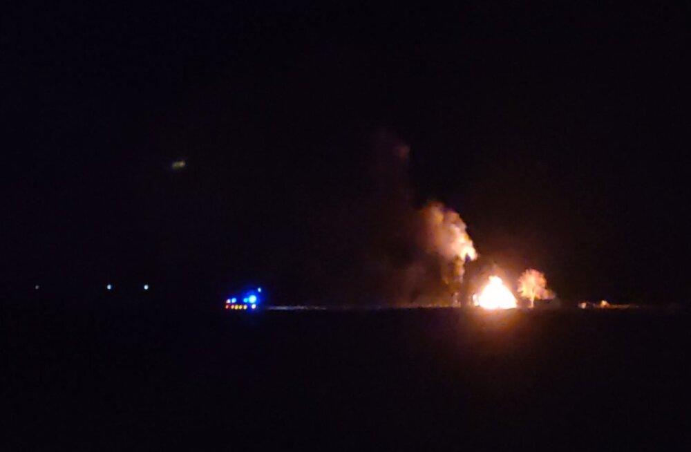 ФОТО: В Куусалу загорелся жилой дом