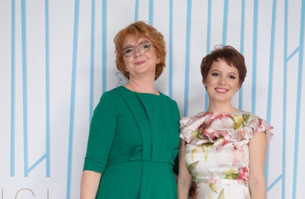 Euroopa Parlamendi saadik Yana Toom ja tütar Varvara Litvinova
