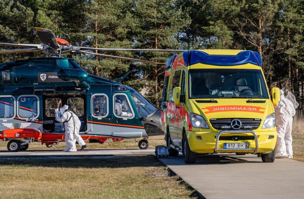 PPA päästekopter tõi patsiendi PERHi