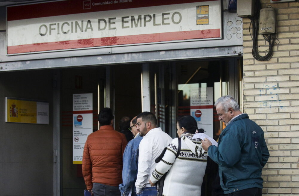 Eurotsooni töötus langes kümnendi madalaimale tasemele