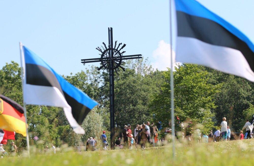 Sinimägedes peeti mälestustseremooniat