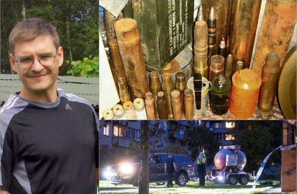 У этого жителя Ыйсмяэ замечательное хобби — в своей квартире он коллекционирует бомбы!