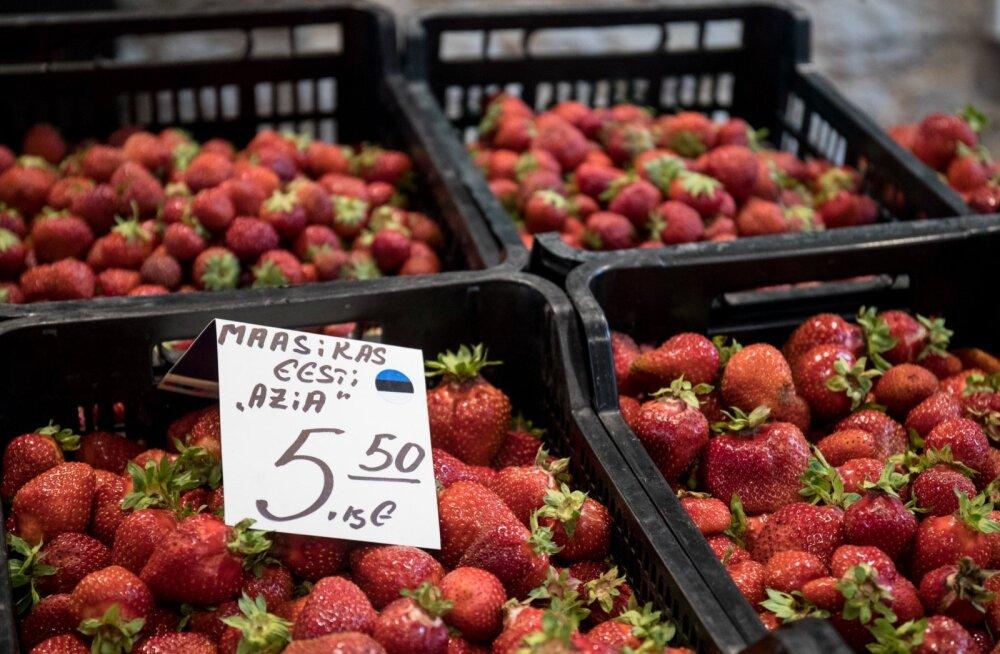 Maasika hinnad Balti jaama turul