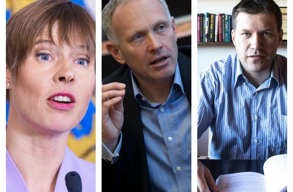 Kersti Kaljulaid, Armin Karu ja Jaak Roosaare.