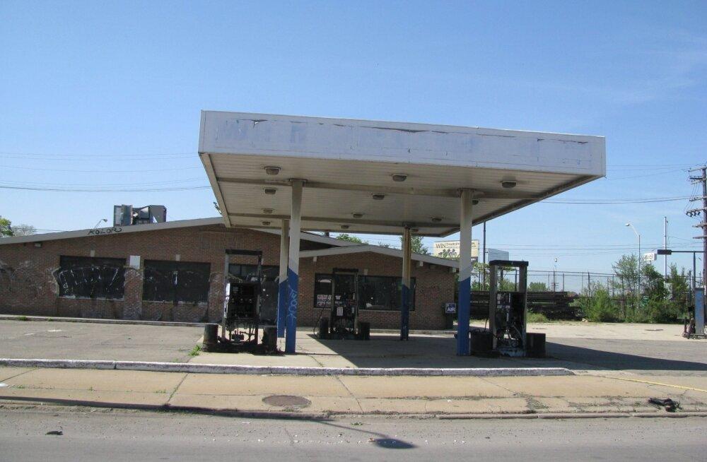 Hüljatud tankla Detroiti Delray linnaosas