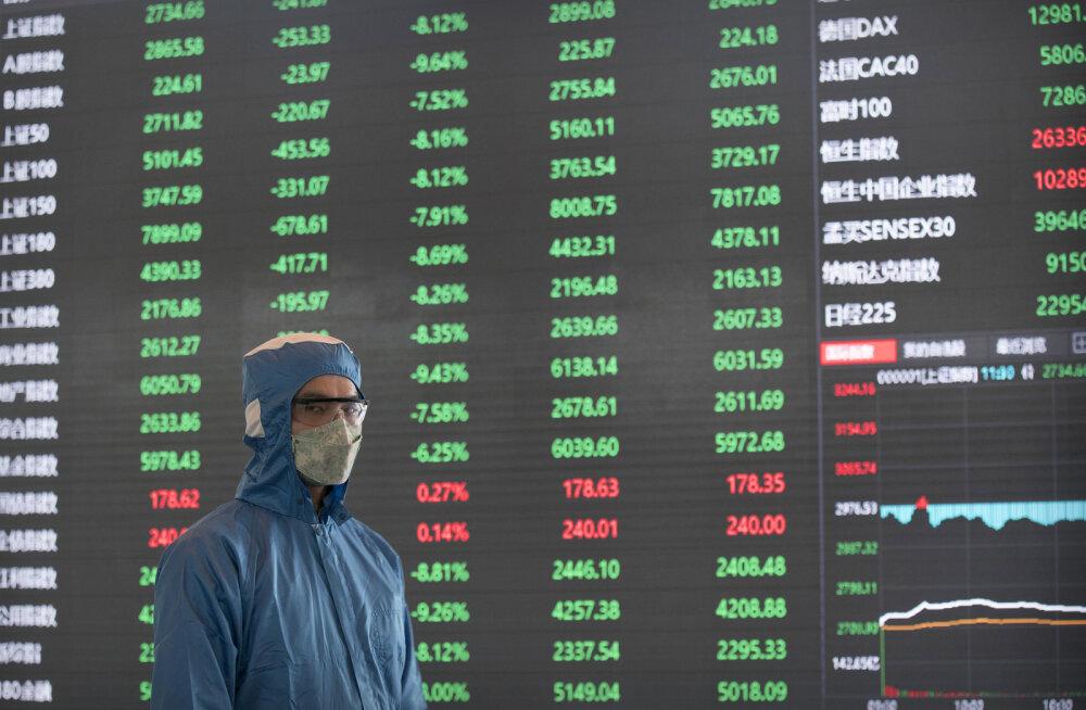 Must esmaspäev Hiina aktsiaturul. 420 miljardit dollarit lendas vastu taevast