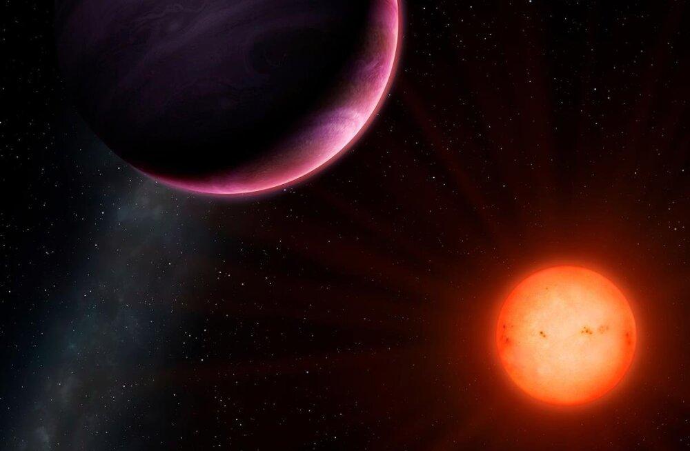 Tillukese tähe orbiidilt avastati hiidplaneet ning astronoomid ei saa aru, kuidas see võimalik on