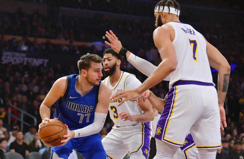 VIDEO | Mavericks jäi Lakersile alla, Doncic kukkus valusalt