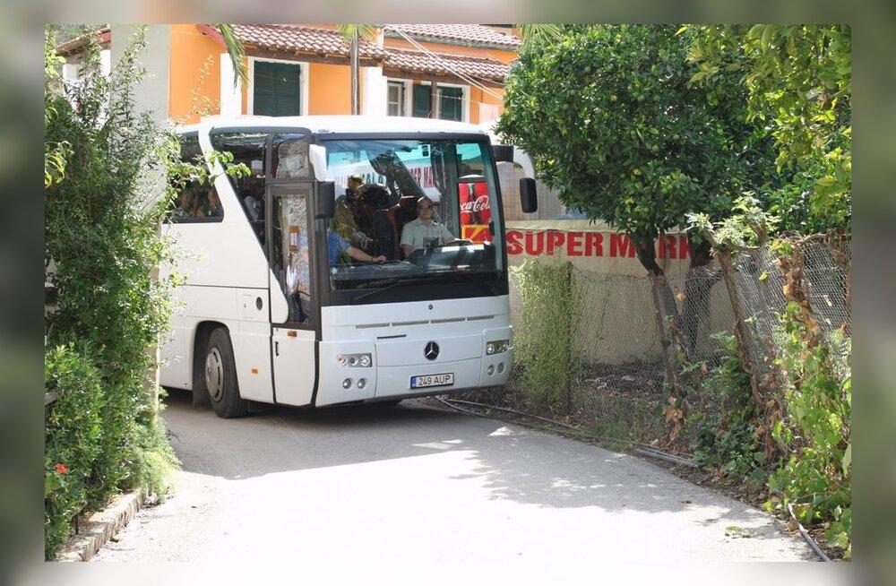 Bussijuhtide mustkunst Korful