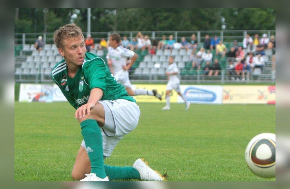 FC Levadia jõudis viimasena veerandfinaali