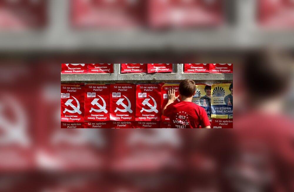 Moldova kommunistid kaotasid enamuse