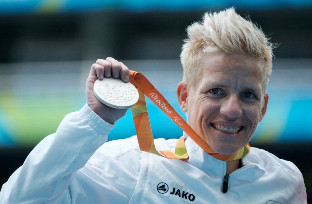 Marieke Vervoort olümpiamedaliga.