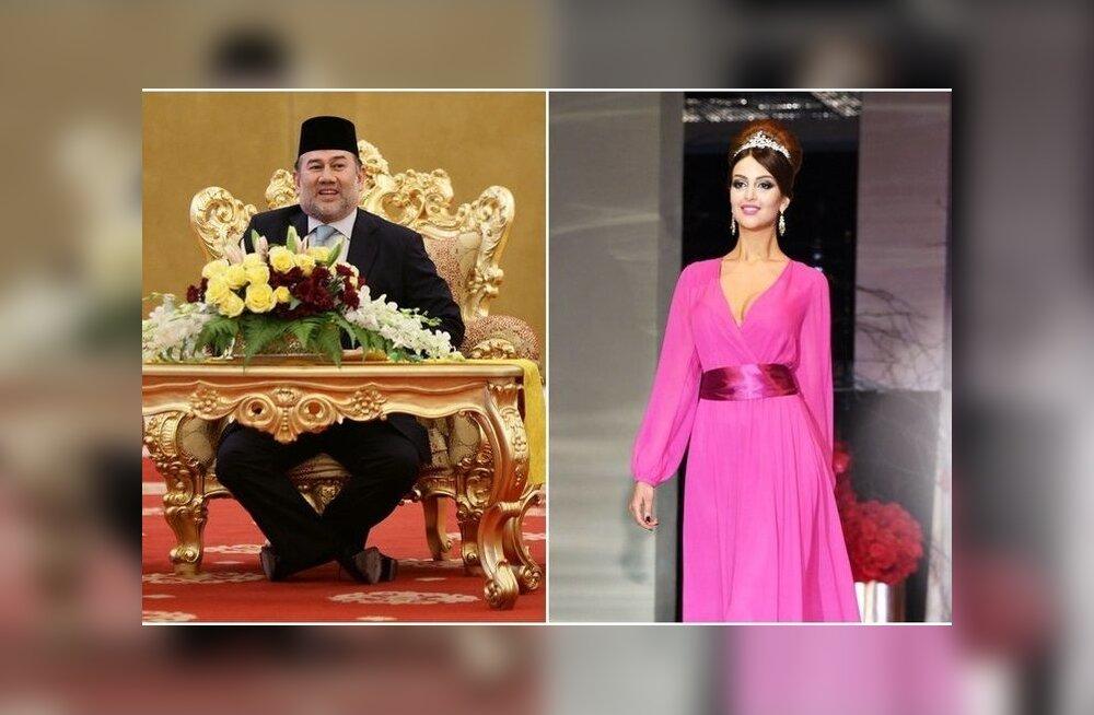 """Свадьба с """"Мисс Москва"""" вынудила короля Малайзии отречься от престола"""