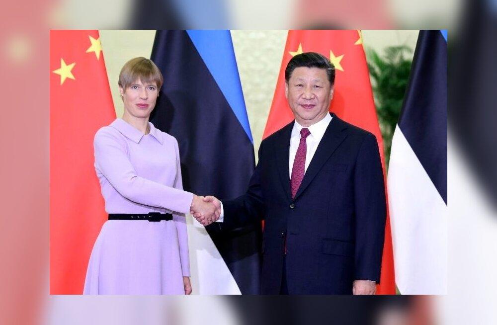 Kersti Kaljulaid ja Xi Jinpingig