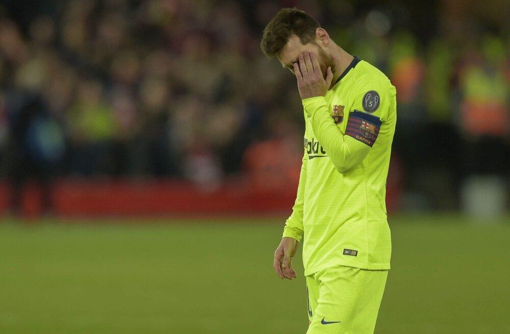 Pettunud Lionel Messi.