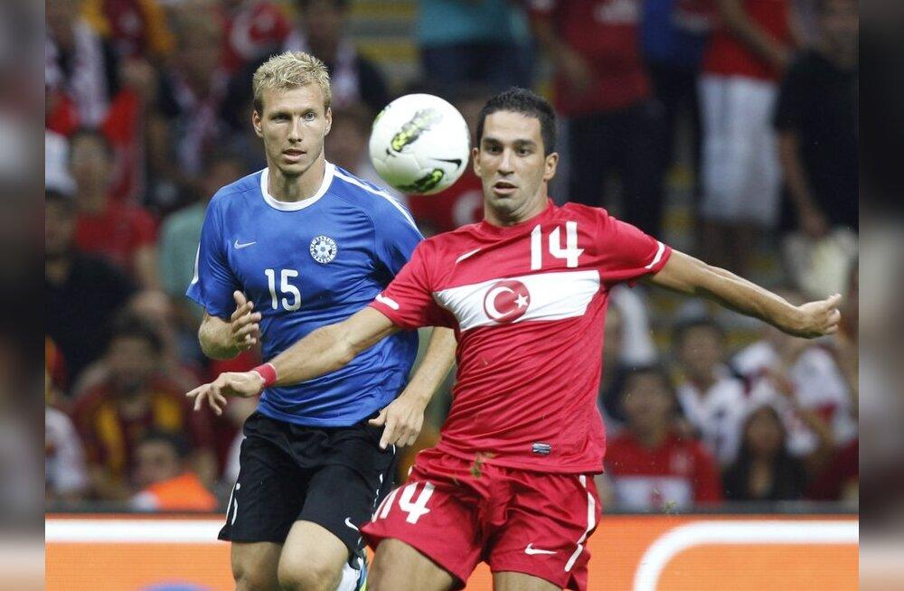 Türgi-Eesti maavõistlus, Ragnar Klavan, jalgpall