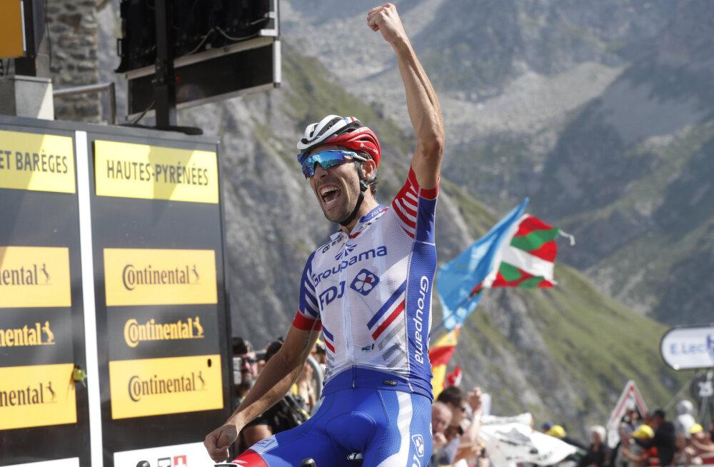 Tour de France'i 14. etapi võitis prantslaste rõõmuks Pinot, Kangert tegi üldarvestuses korraliku tõusu