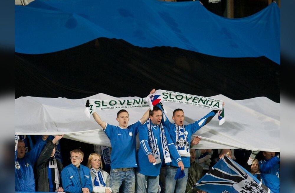 Eesti jalgpallifännid omasid toetamas