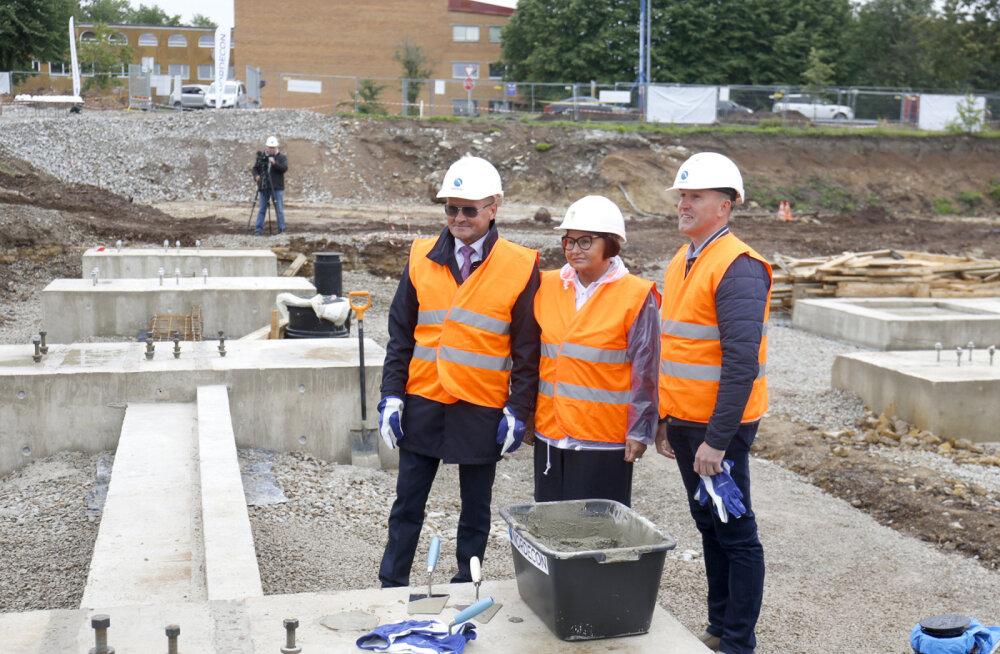 В Кохтла-Ярве заложили краеугольный камень нового спортивно-оздоровительного центра