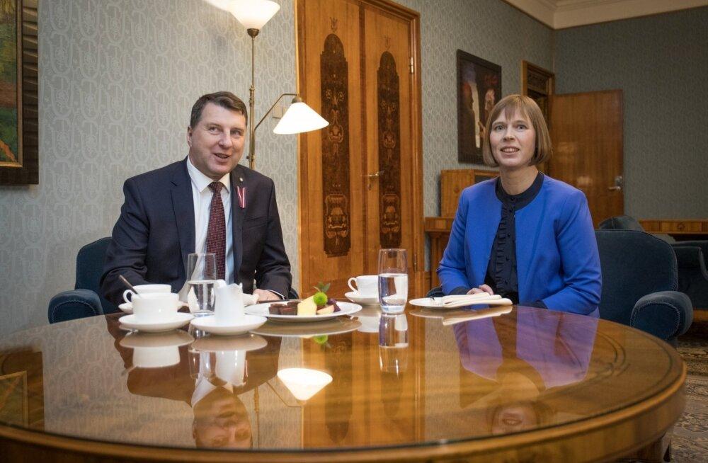 President Kaljulaid kohtub Läti president Vejonisega