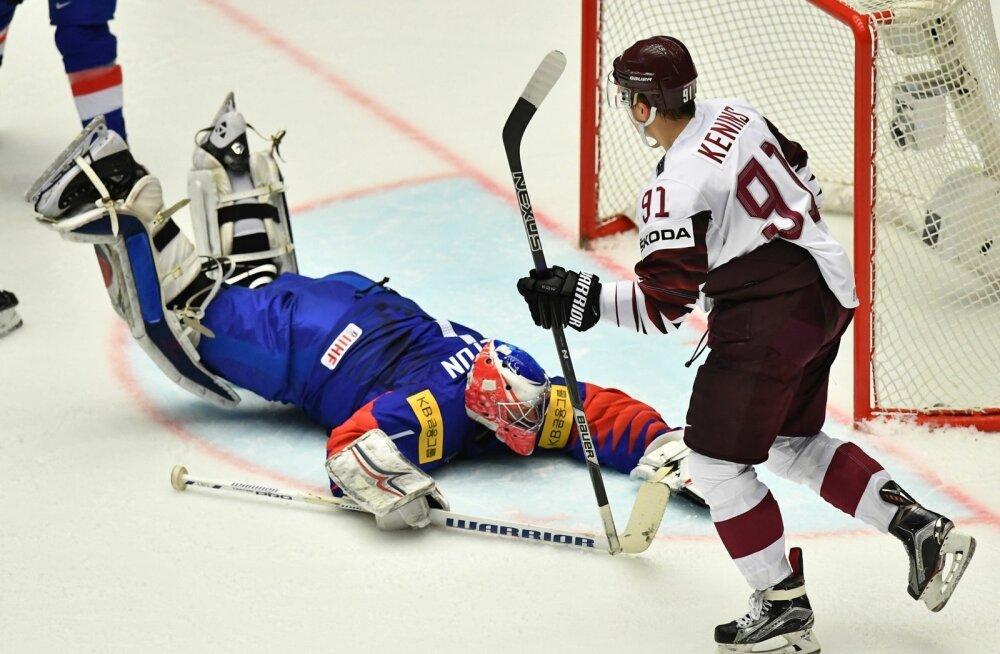 Jäähoki Läti vs Korea